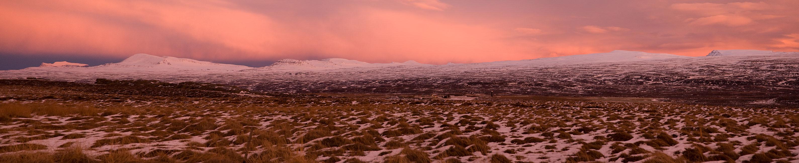 Sonnenuntergang am Urriðavatn