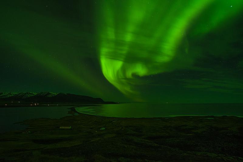 Miklavatn Polarlicht