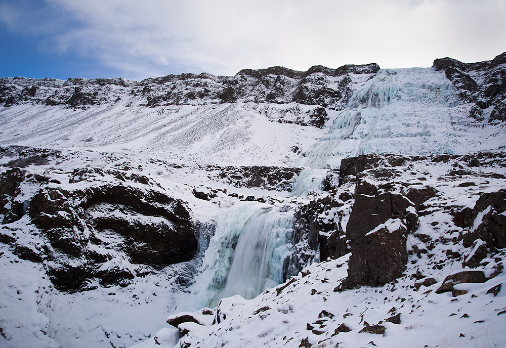Dynjandi Fjallfoss Winter