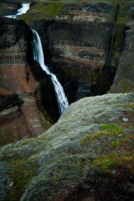 Granni Waterfall Wasserfall Island