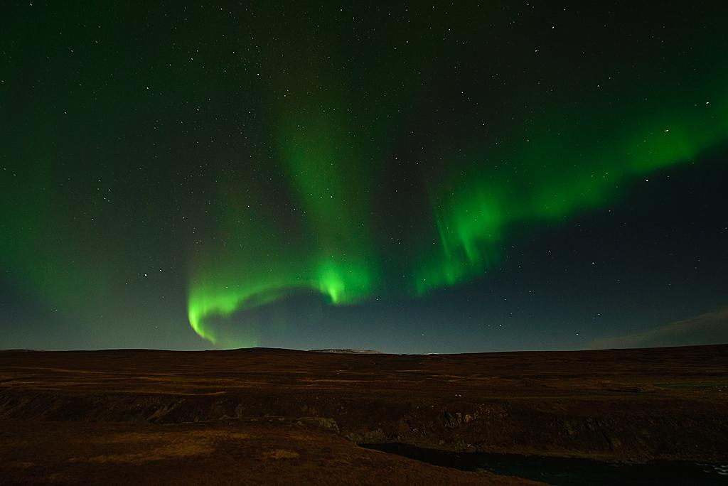 Polarlicht Selárdalur Vopnafjörður Nordost-Island