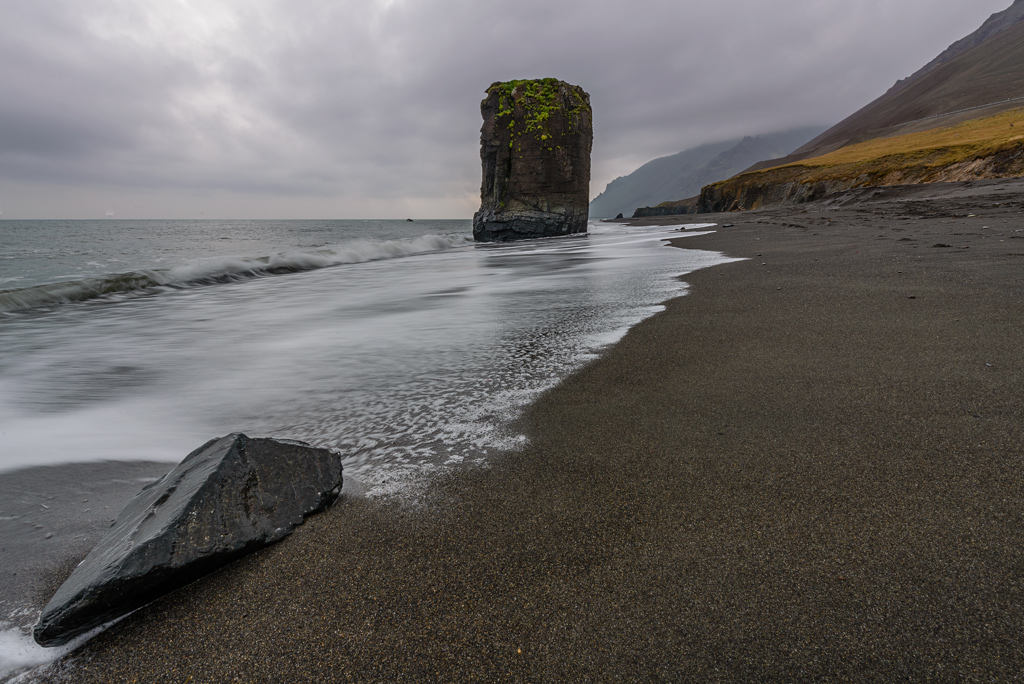 Fauskaklettur, Felsturm im Osten Islands
