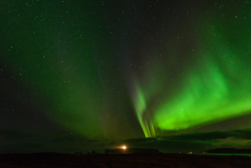 Dyrhólaey Dyrholaey Polarlicht