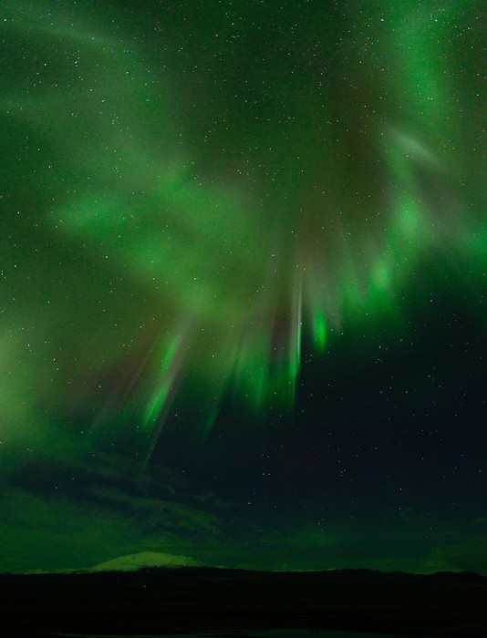 Hekla Polarlicht Aurora Borealis Island 2015