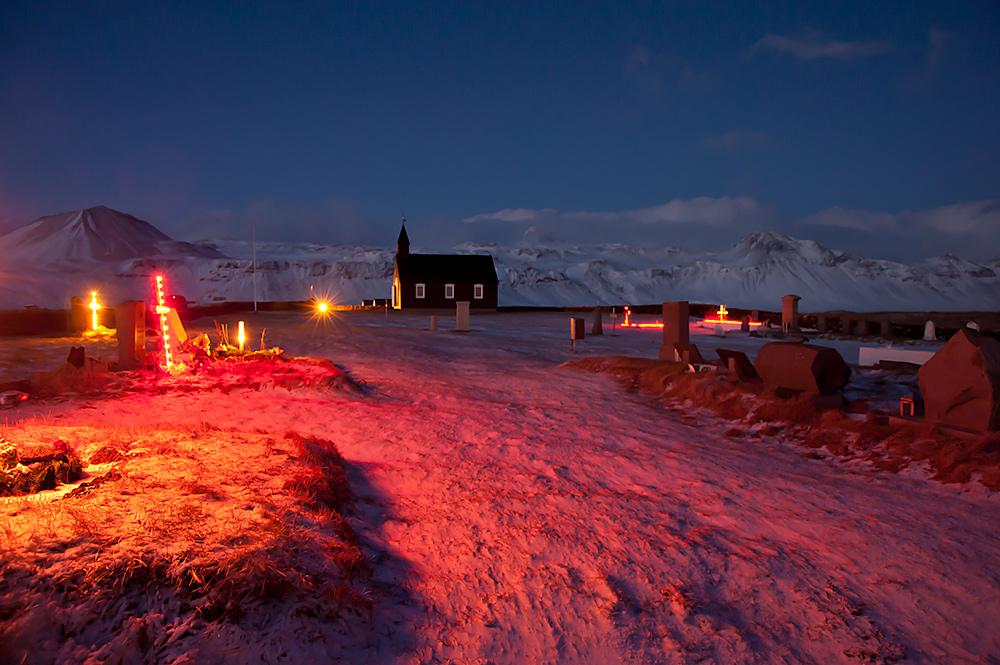 Búðarkirkja Búðir Budarkirkja Budir Winter