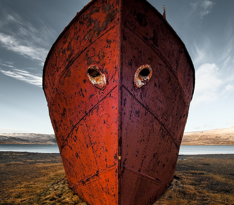 Garðar Schiffswrack Wreck Patreksfjoerdur