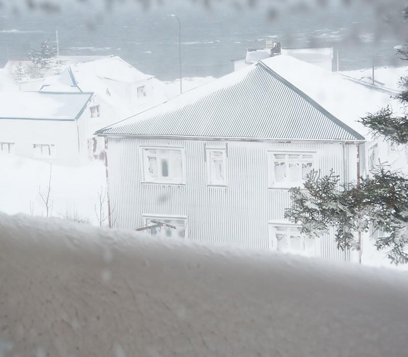 Hólmavík Holmavik Schneesturm